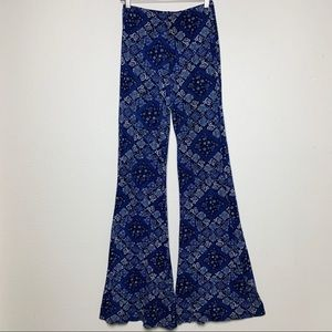 HONEY PUNCH S high waisted floral bell bottoms C